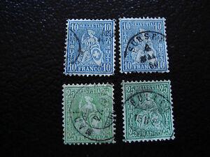 Switzerland-Stamp-Yvert-and-Tellier-N-36-45-x2-Obl-A8-Stamp-Switzerland