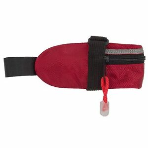 FUELBELT 94 CU INCH SEAT POST BIKE BAG CYCLING RED WITH TAIL STRAP RED
