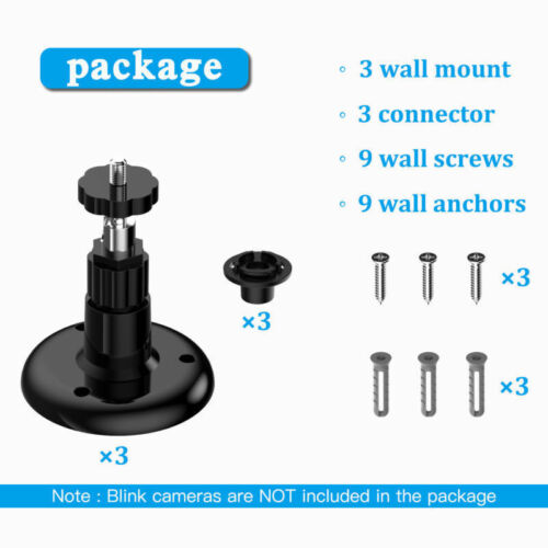 Blink XT Camera Wall Mount Bracket 360° Degree Protective Adjustable In//Outdoor