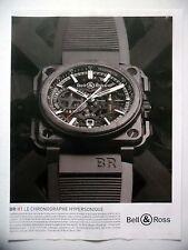 PUBLICITE-ADVERTISING :  BELL & ROSS BR-X1 Chronographe noir  2015 Montres