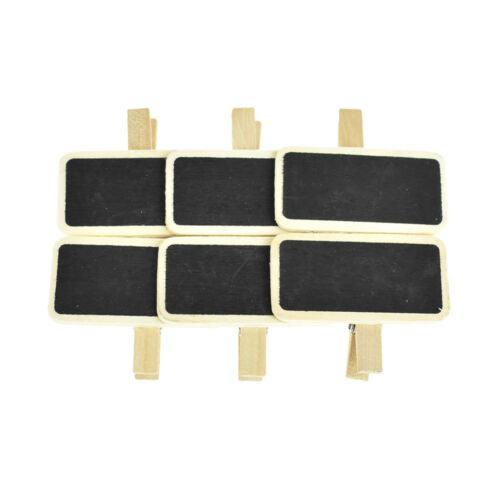 6-Piece Wooden Chalkboard Sign Clips 2-Inch