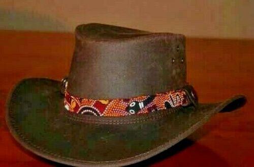 Genuine Aboriginal Hat Band scarf Adjustable Fits most Hats BushTucker beautiful