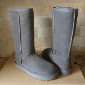 b25dd630b15 Details about UGG Classic Tall II 2.0 Gray Grey Water-resistant Suede Boots  Size US 12 Womens