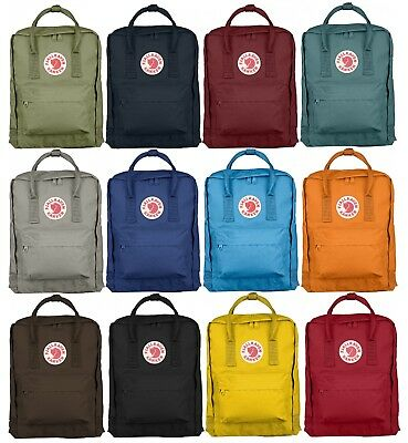 Fjallraven Logo Unisex Kanken Backpack Rucksack In 12 colours