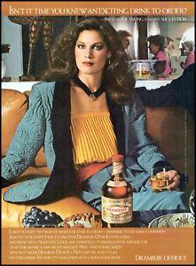 1980 Drambuie liqueur beautiful woman bottle glass vintage photo Print Ad ads29
