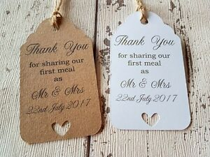 Image Is Loading Personalised Wedding Favour Thank You Tags Gift