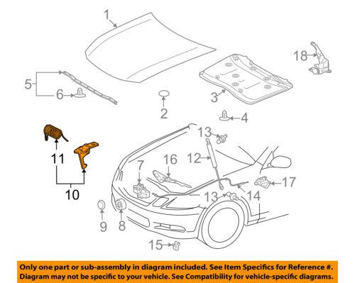 Lexus TOYOTA OEM 06-07 GS430 Hood-Safety Catch Latch Lock 5355030140