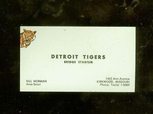 1950s detroit tigers scout baseball business card ebay image is loading 1950s detroit tigers scout baseball business card colourmoves