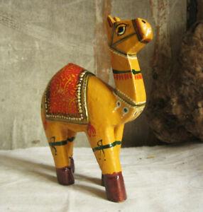 Wunderschoenes-KAMEL-aus-Holz-handbemalt-aus-Rajasthan-Indien-Camel-Wuestenschiff
