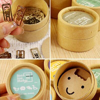 20 pcs/Box Mini Metal Bookmarks Office School Book Note Clip with Cute Case Box