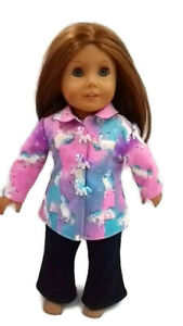 "Unicorn Spring Jacket fits American girl dolls 18"" Doll Clothes"