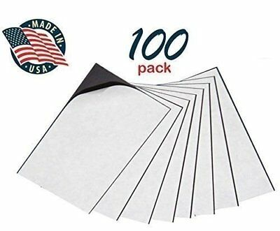 """Self Adhesive Peel /& Stick Promotional Business Card Magnets Pack of 100 2 x 3½/"""""""
