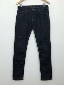 957cdf4f Details about ZARA Womens Dark Blue Mid Rise Skinny Fit Stretch Cotton  Denim Jeans Size 38