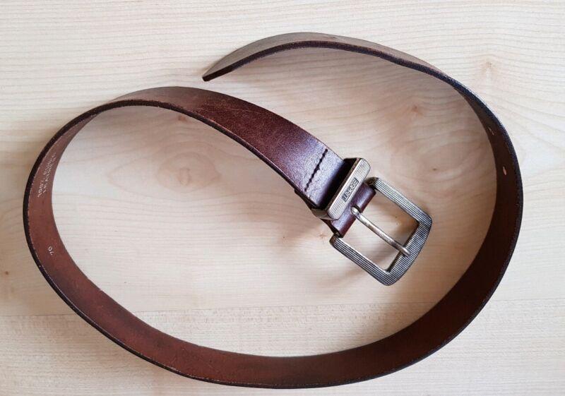 * Esprit * Wunderschöner Echt Leder Gürtel Braun Gr.70 Cm