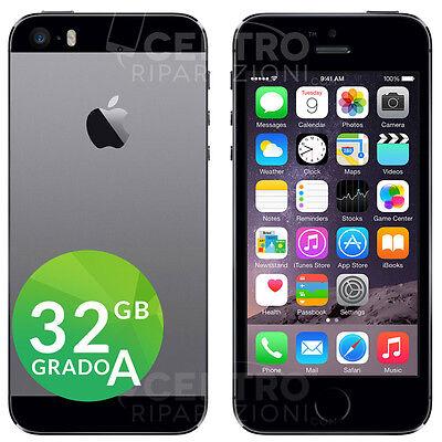 APPLE IPHONE 5S 32GB GRIGIO SIDERALE SPACE GRAY ACCESSORI E GARANZIA CORRIERE