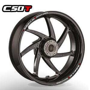SUZUKI C50 T Boulevard wheel rim stickers decals - choice of 20 colours -