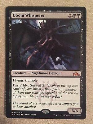 x4 MTG Doom Whisperer Black Guilds of Ravnica NM