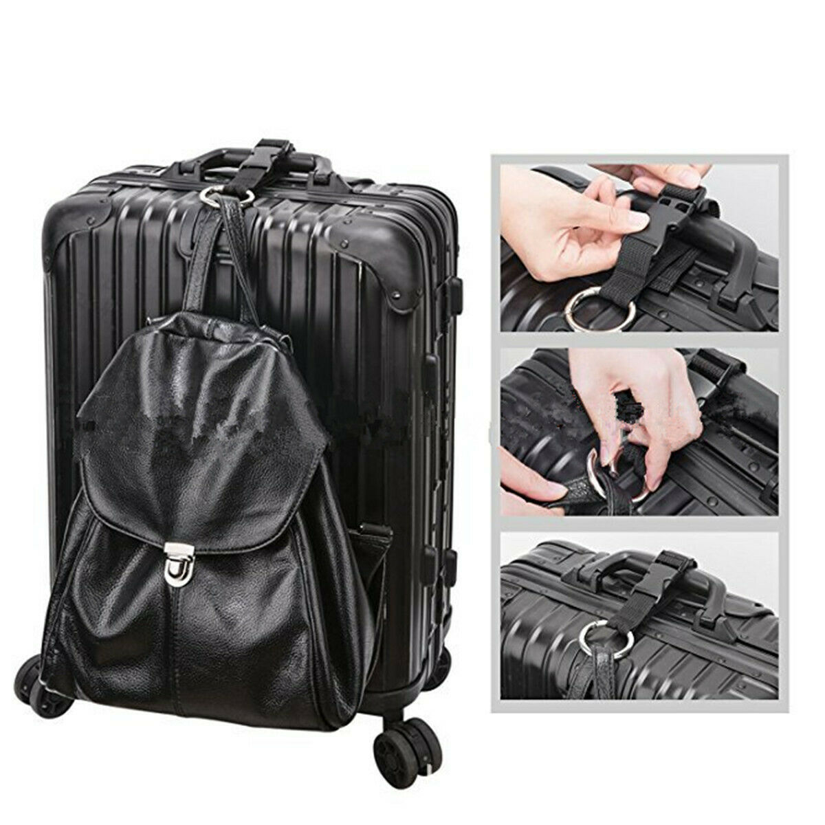 Handbag Clip Jacket Holder Gripper Add Bag Anti Theft Luggage Strap Use To Carry For Sale Online Ebay