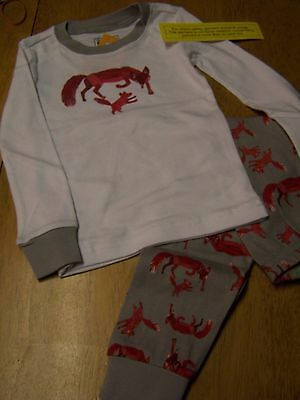 "Gymboree boys /""The World of Eric Carle/"" 2 Piece Pajamas New Size 2T 3 4"
