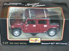 Maisto Special Edition Hummer H2 SUT Concept - 1/27 Scale Burgundy