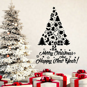 image is loading merry christmas wall decal tree decal holiday sticker - Christmas Wall Decal