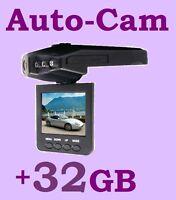 Dashcam Cam Black Box Dvr Auto Kamera (schwarz) + 32gb-sd-karte