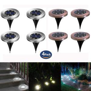 8LED-energie-solaire-enterree-lumiere-sous-le-sol-lampe-de-jardin-terrasse