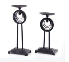 Celebrating Home Interiors Pair Of Metal Candle Sticks Metropolitan NEW!