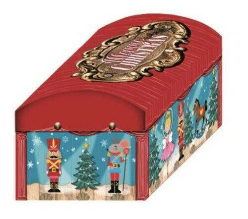 50cm Nutcracker Christmas Eve Treasure Chest PJ Gift Box Night Before Christmas