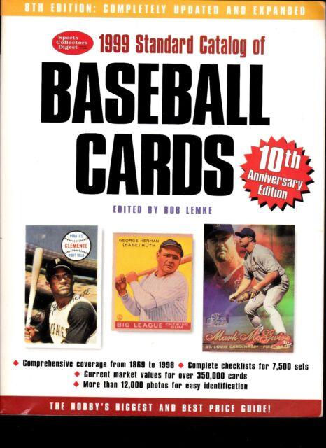 1999 Standard Catalog of Baseball Cards (1998, Paperback)--FREE SHIPPING