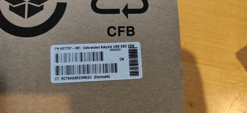 Tastatur, Unbranded + HP, Standard USB