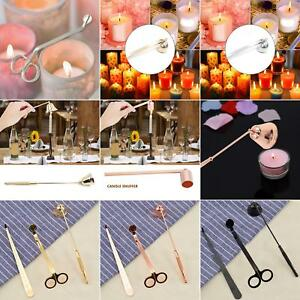 1//3pc Candle Snuffer Wick Dipper Oil Lamp Trimmer Extinguish Trim Scissor Cutter