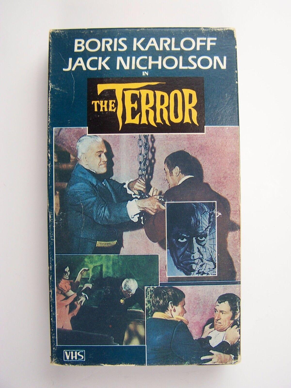 The Terror VHS Video Boris Karloff Jack Nicholson 1963