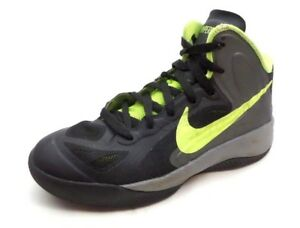 best service 7065e 25e73 Image is loading Nike-Hyperfuse-Black-Lime-Green-Athletic-Tennis-Shoes-