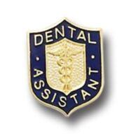 Dental Assistant Lapel Pin Caduceus Gold Plate Medical Insignia Emblem 817