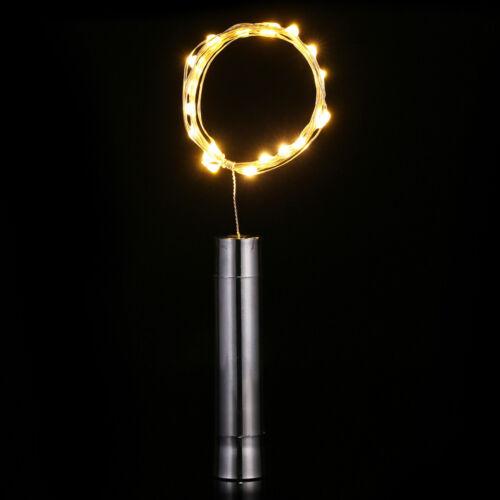 Bottle DIY 10//15//20LEDs Cork Shaped Wine Fairy String Lights Lamp AA Battery 2M