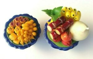 Dollhouse Fruit Salad in Ceramic Bowl Handcrafted 1:12 Scale Miniature