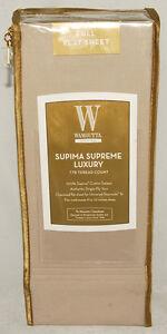 Image Is Loading Wamsutta Supima Supreme Luxury 778 Tc Full Flat