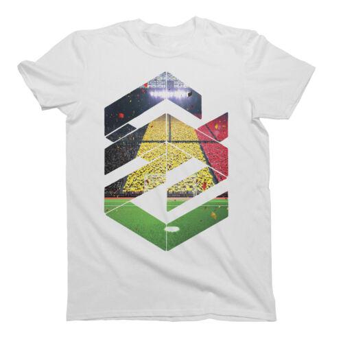 Mens World Cup 2018 Fashion Shape T-Shirt BELGIUM Football Trendy