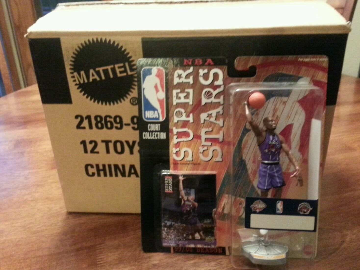 12 1999 All Star Vince Carter Starting Lineup SLU Figure MOC Case Rare   Raptors