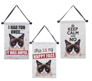 Ganz Grumpy Cat Mini Banner  THIS IS MY HAPPY FACE