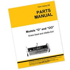 Parts Manual For John Deere Van Brunt O Oo Grass Seed Alfalfa Drill Catalog