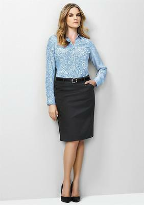 Biz Corporate Ladies Multi Pleat Skirt 20115 | Cool Stretch, Office, Womens, New
