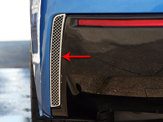 C7 Corvette Stingray Coupe Rear Valence Vent Grilles Mesh Polished Stainless