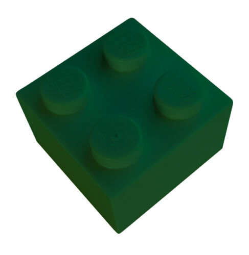 Lego 50x Pietra 2x2 Verde 3003 Nuovo Verde Pietre Basics City Green Mattoncini