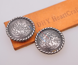 Decorative rivet Concho Concha for Screws Silver Gold Biker Motorcycle Accessories 30 MM