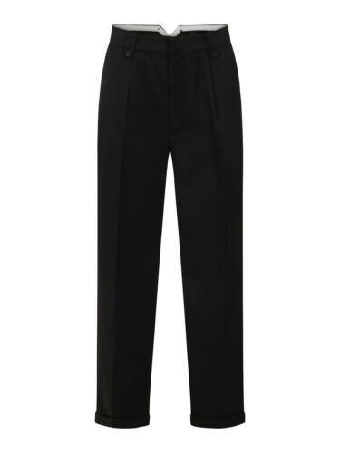 1940s UK and Europe Men's Clothing – WW2, Swing Dance, Goodwin    Mens 1940s Swing Vintage Style Black Fishtail Look Trousers With Turn Up Hems $42.99 AT vintagedancer.com
