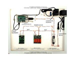 Dettagli su KIT domotica DomoRPI Raspberry PI RS485 I/O temperatura umidità  emoncms Node-RED