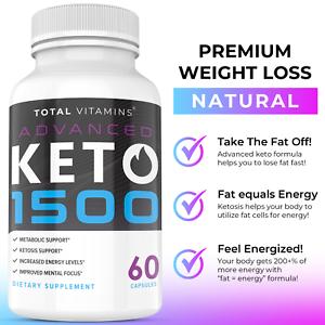 Keto Diet Pills Advanced 1500 BHB Weight Loss Exogenous Ketones Rapid Ketosis