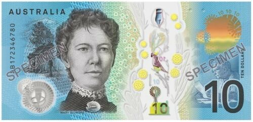AUSTRALIA $10 2017 RBA Information Sheet Large A4 x 1 UNC Banknote